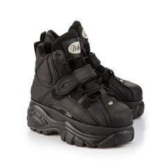 New Buffalo Classic Boots 1348-14 BLACK Platform Shoes / Trainers Sizes UK 3-8: Amazon.co.uk: Shoes & Bags