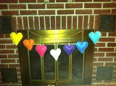 #heart bunting #felt hearts #centerpieces #wedding #wedding #rainbow #rainbow wedding #sprinkles #wedding