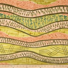 The Gathering Abstact Roadmap Yellow from @fabricdotcom  Designed by Mary Fisher for Troy Corporation, this cotton print fabric is perfect for quilting, apparel and home decor accents. Colors include olive, shell and yellow.