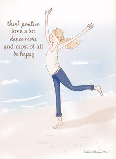 Dance More Encouragement Art for Women by RoseHillDesignStudio