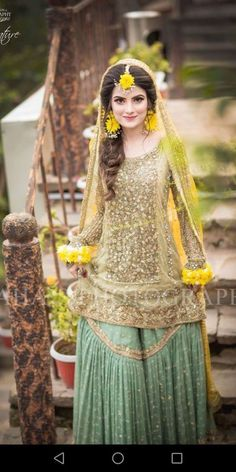 Latest Asian Bridal Mehndi Suits For Yr 19 Collection With Price Tag Pakistani Mehndi Dress, Pakistani Bridal Makeup, Bridal Mehndi Dresses, Walima Dress, Shadi Dresses, Pakistani Wedding Outfits, Bridal Dress Design, Pakistani Wedding Dresses, Pakistani Dress Design
