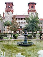 Marvel at the working music boxes, curios, and old hotel furnishings at the Lightner Museum, formerly known as the Alcazar Hotel, in St. Augustine.  An exquisite collection of curiosities from the Gilded Age.
