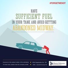 Pushing a fuel-empty car on the roads can never be pleasant. Always check your fuel tank before starting a journey. #ForgetMeNot