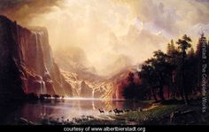 Sierra Nevada Mountains - Albert Bierstadt - American Museum of Art