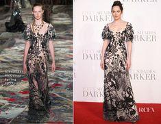 Dakota Johnson In Alexander McQueen – 'Fifty Shades Darker' London Premiere