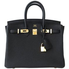 Preowned Hermes Black Baby Birkin 25cm Togo Gold Ghw Satchel Jewel (€24.210) ❤ liked on Polyvore featuring bags, handbags, hermes, black, hermes handbags, jeweled handbags, pre owned purses, preowned handbags and jeweled purse