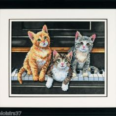 I checked out Dimensions Kit Point de Croix Imprimé Chats  Cats  Meowsical Trio on Lish, € 35,28