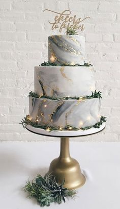 32 Jaw-Dropping Pretty Wedding Cake Ideas A delicious cake is the sweetest ending to a perfect wedding celebration. If you're looking for wedding cake inspiration, browsing through wedding cake pictures… - Boho Wedding Pretty Wedding Cakes, Wedding Cake Designs, Wedding Cake Toppers, Gay Wedding Cakes, Wedding Themes, Wedding Colors, Perfect Wedding, Dream Wedding, Garden Wedding