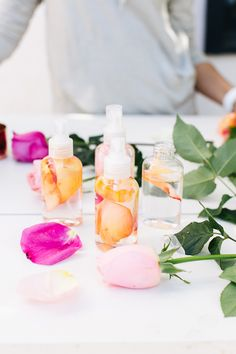 DIY: post workout rosewater spritzer