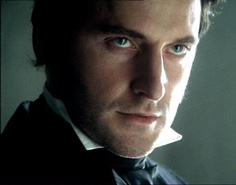 Mr.Thornton- his eyes. If you've never seen this and you're an incurable romantic, see it. North & South.