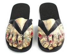zombie shoes are a great accessory for Halloween