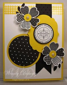 Bright Graphic Birthday by Wdoherty - Cards and Paper Crafts at Splitcoaststampers