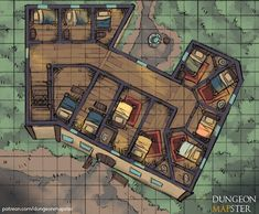 Dungeon Mapster is creating maps for pathfinder, tabletop games, and dungeons and dragons Dungeons And Dragons Homebrew, D&d Dungeons And Dragons, Building Map, Building Games, Rpg Map, Pen & Paper, Map Games, Dragon Rpg, Dnd Art