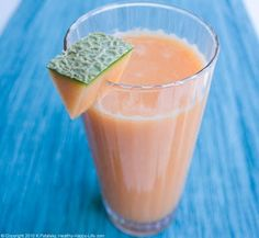 Make a Cantaloupe-Ginger-Juice!    CANTALOUPE MELON is not only rich in vitamin A and potassium - but quite alkaline at about pH 8.5. Enjoy cantaloupe on its own or try it juiced in your juicer!