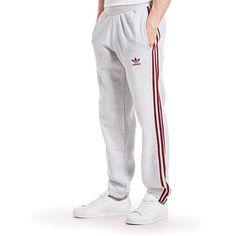 adidas Originals Trefoil 3 Stripes Jogging Pants (£40) ❤ liked on Polyvore featuring men's fashion, men's clothing, men's activewear and men's activewear pants