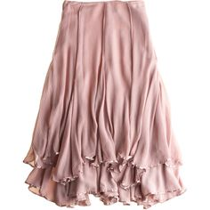 CALYPSO St. Barth Charlie Skirt ($25) ❤ liked on Polyvore featuring skirts, bottoms, pink, saias, flounce skirt, frilly skirt, pink ruffle skirt, long skirts and long red skirt