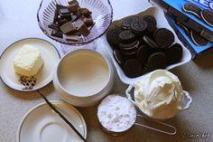 Sernikowe bloki Oreo z polewą czekoladową - Stonerchef Sweet Recipes, Oreo, Pudding, Food, Custard Pudding, Essen, Puddings, Meals, Yemek