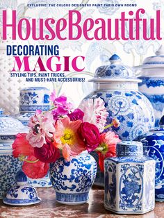 The Pink Pagoda: Blue and White + TPP in House Beautiful -- and Sale!