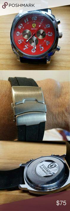 Ferrari chronograph Worn a few times.  Needs battery.  Small scratches on back Ferrari Accessories Watches