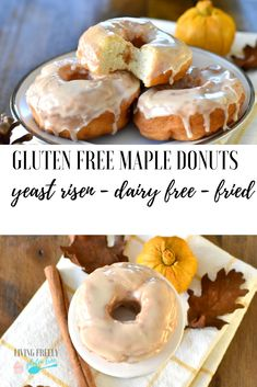Gluten Free Yeast Risen Donuts Here is the perfect gluten free yeast risen donut that is fried! These delicious gluten free donuts will be the best gluten free donuts ever. It took me tons of tries to get this right and these donuts are amazing. Gluten Free Gifts, Gluten Free Sweets, Gluten Free Cakes, Gluten Free Baking, Gluten Free Recipes, Gf Recipes, Fall Recipes, Gluten Free Doughnuts, Yeast Donuts