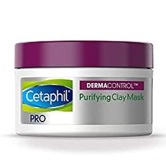 Cetaphil Pro Dermacontrol Purifying Clay Mask With bentonite Clay For Oily, Sensitive Skin, 3 Oz Jar Best Clay Mask, Best Face Mask, Clay Masks, Mask For Oily Skin, Face Mask For Blackheads, Deep Clean Pores, Blackhead Mask, Acne Mask, Cetaphil
