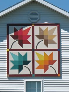 Beautiful Maple Leaf on a home!-pictures of mississippi barn quilts - Google Search