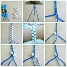 Cute and simple! DYI bracelet with beads and string