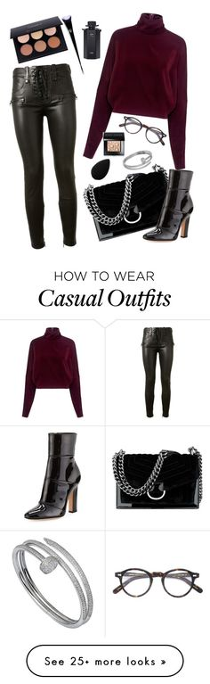 """""""fall casual outfit of the day"""" by itsnotlina on Polyvore featuring Nine West, Gianvito Rossi, McQ by Alexander McQueen, Unravel, beautyblender, Cartier, Bobbi Brown Cosmetics, Moscot, Anastasia Beverly Hills and Kat Von D"""