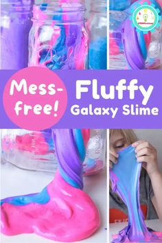 How to Make Fluffy Galaxy Slime (Just 3 ingredients!) Amazing Science Experiments, Science Fair Projects, Slime With Contact Solution, Galaxy Slime, Easy Slime Recipe, Slime No Glue, Shaving Cream, 3 Ingredients, Kids Meals
