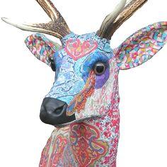 Textile taxidermy for Liberty by Carola van Dyke