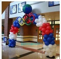 Balloon art Olympics  sculpture