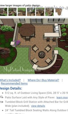Backyard patio design