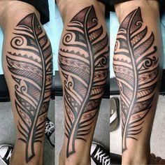maori tattoos intricate designs for women Maori Tattoos, Tattoos Bein, Filipino Tattoos, Maori Tattoo Designs, Samoan Tattoo, Leg Tattoos, Tribal Feather Tattoos, Feather Tattoo For Men, Feather Tattoo Design