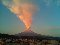 San Nicolas de los Ranchos, Messico - Vulcano Popocatepetl, 11 febbraio 2015