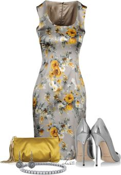 A fashion look from April 2013 featuring Dolce&Gabbana dresses, Jimmy Choo pumps and Emilio Pucci clutches. Browse and shop related looks. Classy Outfits, Pretty Outfits, Beautiful Outfits, Cute Outfits, Work Fashion, Fashion Looks, Fashion Beauty, Mode Collage, Dress Outfits