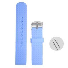 22мм голубой цвет студня силикона Rubber Unisex Часы группы Ремни WB1053R22JB