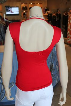 A sexy red top, fitted with a revealing open back. SKYZ Boutique http://on.fb.me/LDqRgo