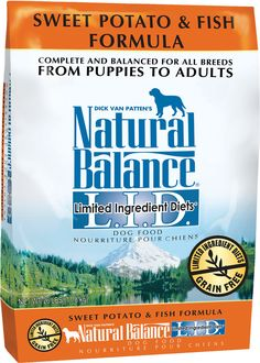 Natural Balance L.I.D. Limited Ingredient Diets Sweet Potato & Fish Formula Dry Dog Food. Grain free dog food. www.chewy.com