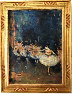 "Maurice Molarsky (1885-1950), ""Study after Edgar Degas, Dancers,"" oil on canvas"
