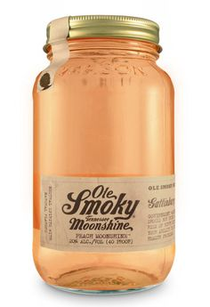 Ole Smoky Peach Moonshine  Try Ole Smoky's Front Porch Peach Tea! Simply mix 2 parts Ole Smoky Peach Moonshine, 1 part sweet tea and 1 part lemonade. Add sliced peaches or mint for good measure. Pass the jar and shine responsibly!