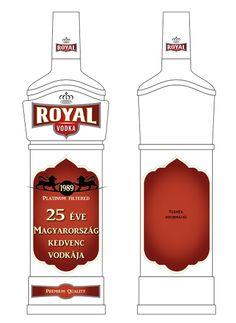 Royal Vodka csomagolás terv