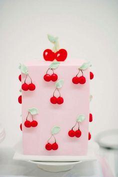 Cherry themed Modern Milk Bar Birthday Party Ideas | Photo 7 of 39