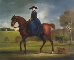 Countess Of Coning On Horse Riding Side Saddle by George Stubbs