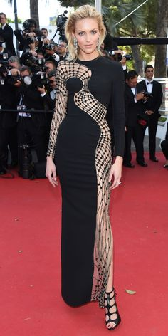The Best of the 2015 Cannes Film Festival Red Carpet - Anja Rubik from #InStyle #i wanna wear this!