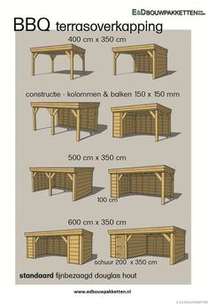 Tekening houten overkapping – Dak te repareren Drawing wooden roof - Roof to be repaired Deck Designs Backyard, Garden Cabins, Outdoor Kitchen Design, Backyard Decor, Patio Design, Backyard Pavilion, Backyard Landscaping Designs, Backyard Kitchen