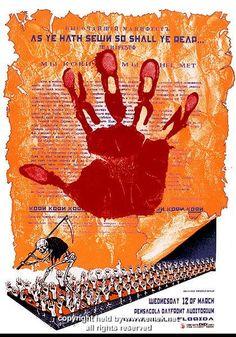 1997 Korn w/ Helmet Silkscreen Concert Poster by Emek