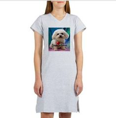 Women's Nightshirt  95% Polyester, 5% Spandex Topstitched ribbed collar Machine Washable http://www.cafepress.com/dogzrrus.1437851872