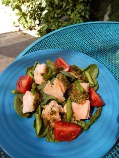 Healthy Seafood Recipes:  Shelly's Salmon with Honey Dijon Gremolata Topping (Leftovers)