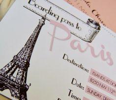 Baby Girls Are From Paris! Parisian themed Baby Shower - Custom Paper Goods - www.lepetitpapierbymonica.com