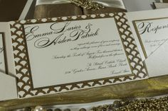 A fabulous art-deco inspired pattern for the bride who loves bold patterns.